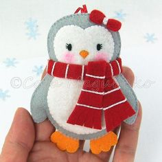 (9) Name: 'Sewing : Felt Penguin Sewing Pattern - 3 Sizes
