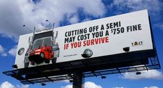 Here's What Utah DOT Is Doing To Stop Cars From Driving Aggressively Around Semi Trucks. Wish more states would do this. Custom Big Rigs, Custom Trucks, Big Rig Trucks, Semi Trucks, Trucker Quotes, Jokes Pics, Car Posters, Ten, Nebraska
