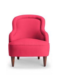 Drake Slipper Chair in azalea pink | home furnishings | Kate Spade New York
