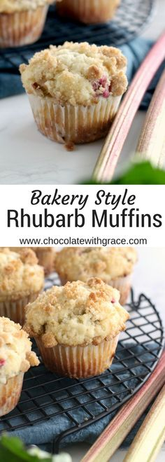 Are puffy tender, just like your bakery favorites. An … Rhubarb Streusel Muffins. Are puffy tender, just Rhubarb Bread, Rhubarb Cake, Strawberry Rhubarb Muffins, Rhubarb Cupcakes Recipe, Rhubarb Cookies, Rhubarb Scones, Muffin Recipes, Baking Recipes, Cookie Recipes