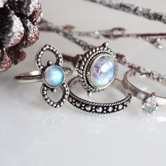 Those beautiful icy moonstones, become a true Ice Queen with a Dixi stack. ✧✧ Shop the treasures from our Ice Queen's trove at www.shopdixi.com ✧✧ // shopdixi // icequeen // shop dixi // boho // bohemian // winter // ice // hippie // jewellery // jewelry // giftideas // bohochic // winter // ice // snow // moonstone