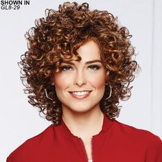Gabor wigs are some of the most comfortable synthetic hair wigs for women in classic styles. Gabor wigs can include lace front wigs and hand-tied construction. Curly Hair Cuts, Curly Bob Hairstyles, Short Curly Hair, Curly Hair Styles, Medium Hairstyles, Short Haircuts, Updo Curly, 4b Hair, Night Hairstyles
