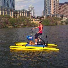 Water biking town lake.