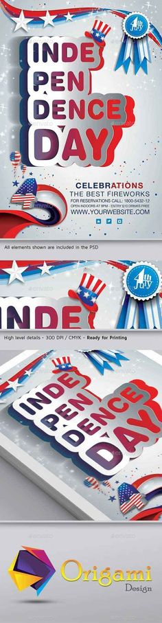 Independence Day Flyer Template Flyer template, Font logo and Fonts - independence day flyer