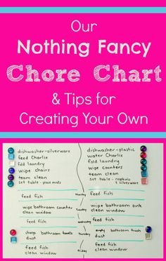 Our Nothing Fancy Chore Chart and Tips for Creating Your Own