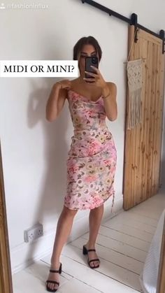 Mid or mini dress?  with @fashioninflux #fashion #dress Special Occasion Dresses, Fashion Show, Fashion Dresses, Summer Dresses, Mini, Collection, Black, Fashion Show Dresses, Summer Sundresses