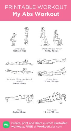 My Abs Workout: my visual workout created at WorkoutLabs.com • Click through to customize and download as a FREE PDF! #customworkout