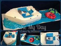 Ski Boat Tube Cake Photo:  This Photo was uploaded by PackerFanShay. Find other Ski Boat Tube Cake pictures and photos or upload your own with Photobucke...