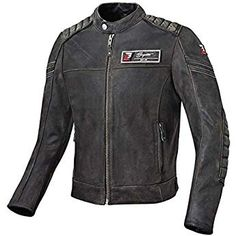 Bogotto Chicago Motorradlederjacke Retro Gr/ö/ße 50 Farbe schwarz