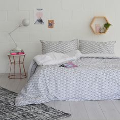 This pretty charcoal grey and white vintage floral is printed on crisp white cotton percale and features a tiny crocheted edge and delicate printed spot reverse. We recommend using a queen duvet on a double bed for a cosier sleep. City Living, Queen Duvet, Double Beds, Home Bedroom, Duvet Cover Sets, Vintage Floral, Grey And White, Comforters, Birthday Wishlist