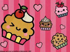 kawaii cupcake cute - Google Search