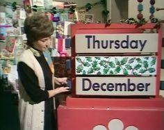 Christmas With Children's BBC: Play School, Christmas Eve 1970 1970s Childhood, My Childhood Memories, Great Memories, Christmas Uk, Christmas Calendar, Xmas, Old School Toys, School Stuff, Uk History