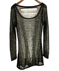 Punk Style Sheer Knit Jumper with