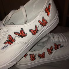 Painted Vans, Painted Sneakers, Painted Shoes, White Vans, White Shoes, Custom Vans, Custom Shoes, Vans Authentic White, Shoe Art