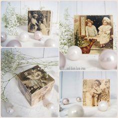 Fotos auf Holz übertragen Tutorial Weihnachtsdeko Idee