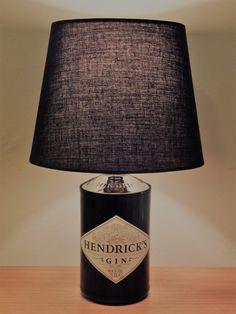 Hendricks Gin 70cl Upcycled Spirit bottle Lamp  Father's