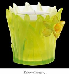 Daum Crystal Jonquille Scented Candle-Tender - Guaranteed Lowest Price