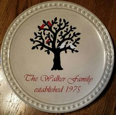 Decorative Family Plate - Kelly Belly Boo-tique & Autumn Fall Decorative Charger Plate Grateful Thankful Blessed ...