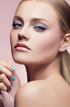 Sweet 2013 Spring Makeup Inspiration - pop of color-try using jane iredale Eye Gloss in Turquoise or Pink