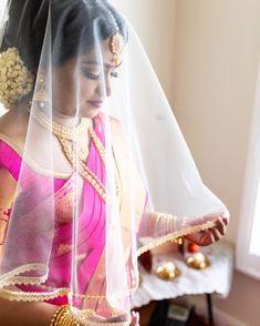 Vithya🌻 Tamil Wedding, Wedding Veil, Beautiful Outfits, Beautiful Women, Bridal Makeup, Lace Trim, Sari, Asian, Culture
