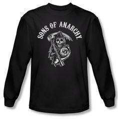 20c8638fb2b6 Sons Of Anarchy Shirt Soa Reaper Long Sleeve Black Tee T-Shirt