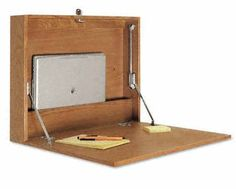 folding oak desk photo