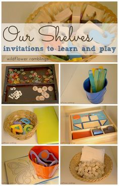 our shelves: invitations to play and learn for preschool and toddlers - Wildflower Ramblings