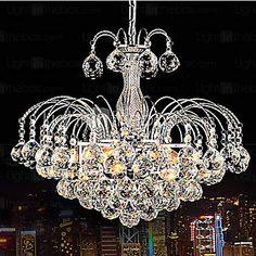 Pendant Luxury Modern Crystal Living 3 Lights - USD $ 139.99