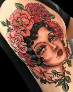 Hình xăm Nghệ Thuật Tattoo by Rose Hardy Rose Tattoos, Sexy Tattoos, Girl Tattoos, Tattoos For Women, Tattoo Roses, Tattoo Girls, Rose Hardy, Places To Get Tattoos, Tattoo Trends