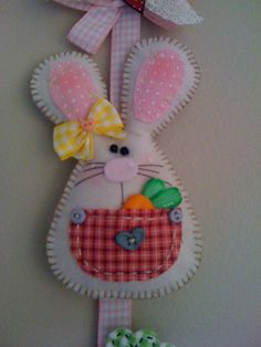 felt Easter door hanger