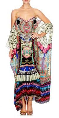 ca5b258de Camilla Chinese Whispers About Girl Silk Caftan Chinese Whispers, Camilla  Clothing, Kaftans, Beach