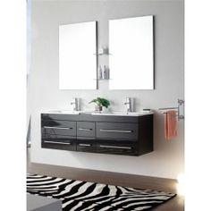 Armoire de Toilette, Miroir Salle de Bain, Meuble Salle de Bain double Vasque, Meubles Design, Univers-salledebain.com