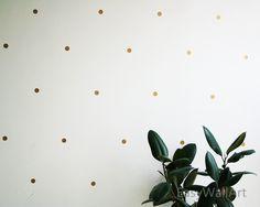"1"" - 150 Dots Gold Polka Dot Wall Decal, Gold Polka Dot Decal, Metallic Golden Polka Dot, Gold Vinyl Wall Decals, Gold Wall Sticker #P76-1.1 by HappyWallzArt on Etsy https://www.etsy.com/listing/245778273/1-150-dots-gold-polka-dot-wall-decal"
