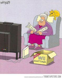 Wii knitting…hahaha i think i need this