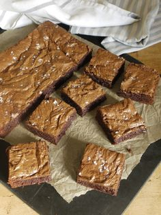 Rye Chocolate Brownies - Clair Ptak