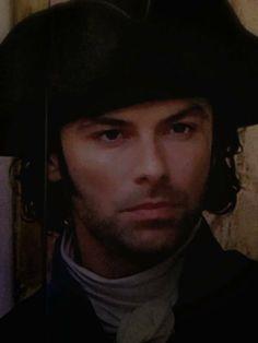 Aidan Turner as Captain Ross Poldark.
