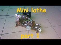 Homemade mini lathe - YouTube