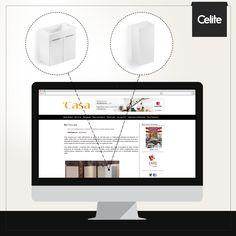 O site DiCasa deu destaque para a Linha de Móveis para Banheiro da Celite, ressaltando seu design inovador,  praticidade e vantagens de instalação.
