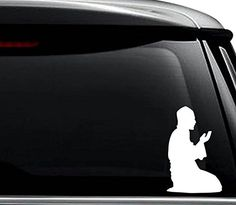 Muslim Praying Islamic Decal Sticker For Use On Laptop Helmet Car Truck Motorcycle Windows Bumper Wall and Decor Size 6 inch  15 cm Tall  Color Matte Black ** Click for more Special Deals #IslamicArt