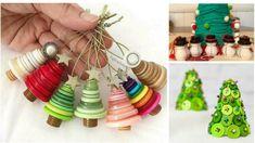 25 idee su come riutilizzare i bottoni per le decorazioni natalizie Christmas Time, Xmas, Christmas Ideas, Button Crafts, Plant Hanger, Washer Necklace, Diy And Crafts, Christmas Decorations, Jewelry