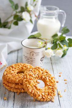 Песочные кольца с орехами
