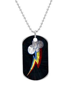 Rainbow Dash Cutie Custom Dog Tag with Neck Chain Aluminum Oval Dog Tag Necklace Design by Vingoo * Click image to review more details.