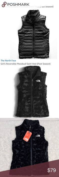 15f55bbfcf03 NWT North Face Mossbud Swirl Reversible Vest 7 8 NEW WITH TAGS! The North