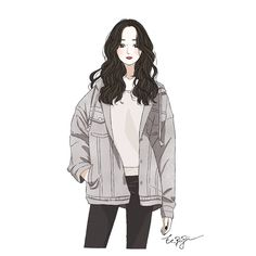 Illustration Girl, Character Illustration, Pretty Art, Cute Art, Anime Chibi, Kawaii, Digital Art Girl, Human Art, Beautiful Anime Girl