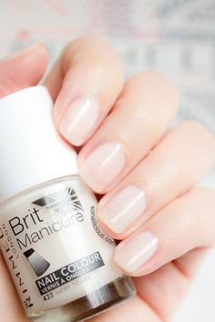 Sheer nude nails - Rimmel London Ivory Tower. Click for review and more photos.