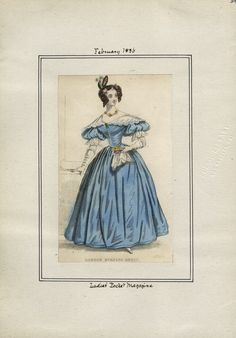 Casey Fashion Plates Detail | Los Angeles Public Library Ladies' Pocket Magazine Date:  Monday, February 1, 1836