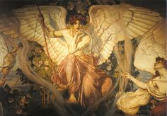 Eros and the Goddesses of Destiny - Julius Kronberg  1908.