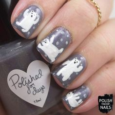 Warm Woolen Polar Bears // Polish Those Nails // The Digit-al Dozen - December // Inspired by  Hawthrone Threads // indie polish - polished for days - parallax polish (press sample)