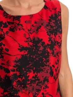 Diane Von Furstenberg - red party dress - floral dress - ZO ET LO EASY SHOPPING WORLDWIDE EXPRESS SHIPPING