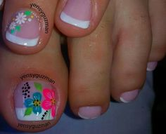 Uñas Pedicure Nail Designs, Toe Nail Designs, Pedicure Nails, Toenails, French Tip Nail Designs, French Tip Nails, Toe Nail Art, Acrylic Nails, Cute Nails